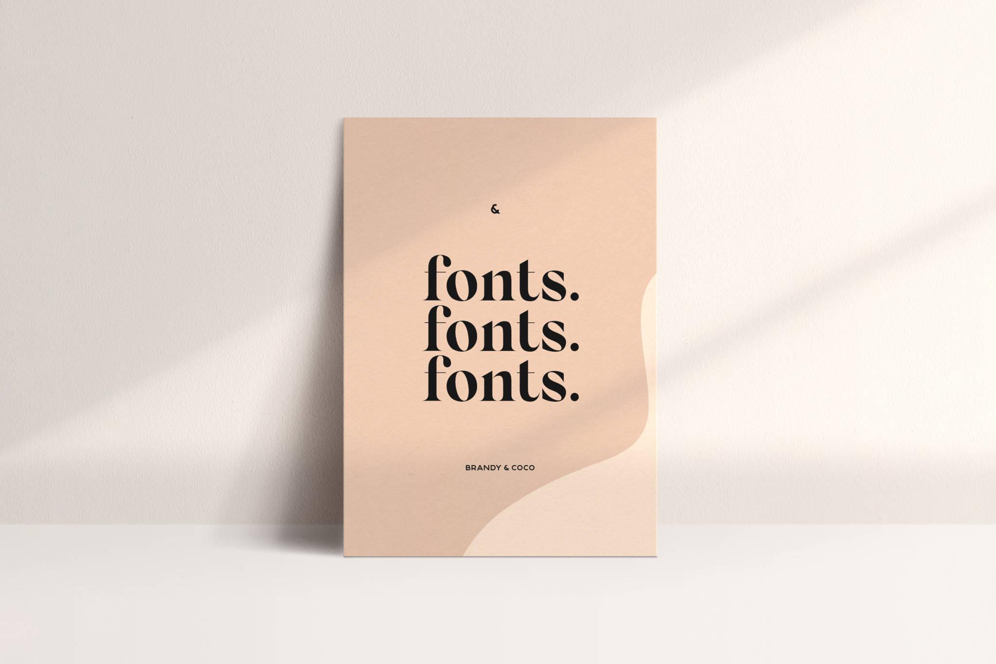 fonts fonts fonts post card