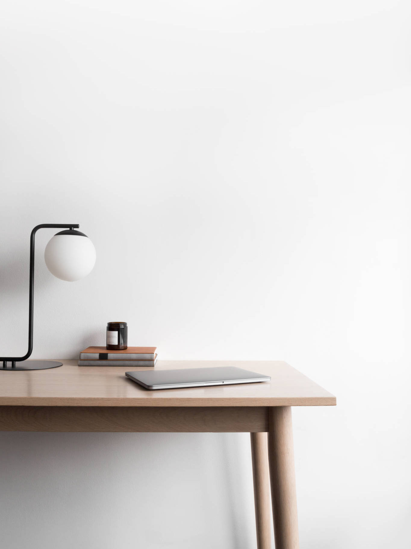 empty designer desk
