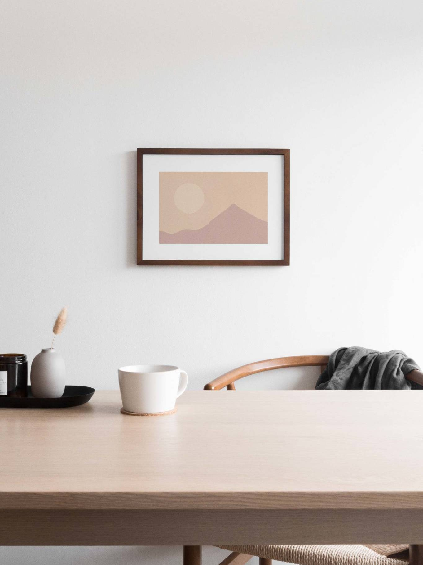 desk with coffee cup