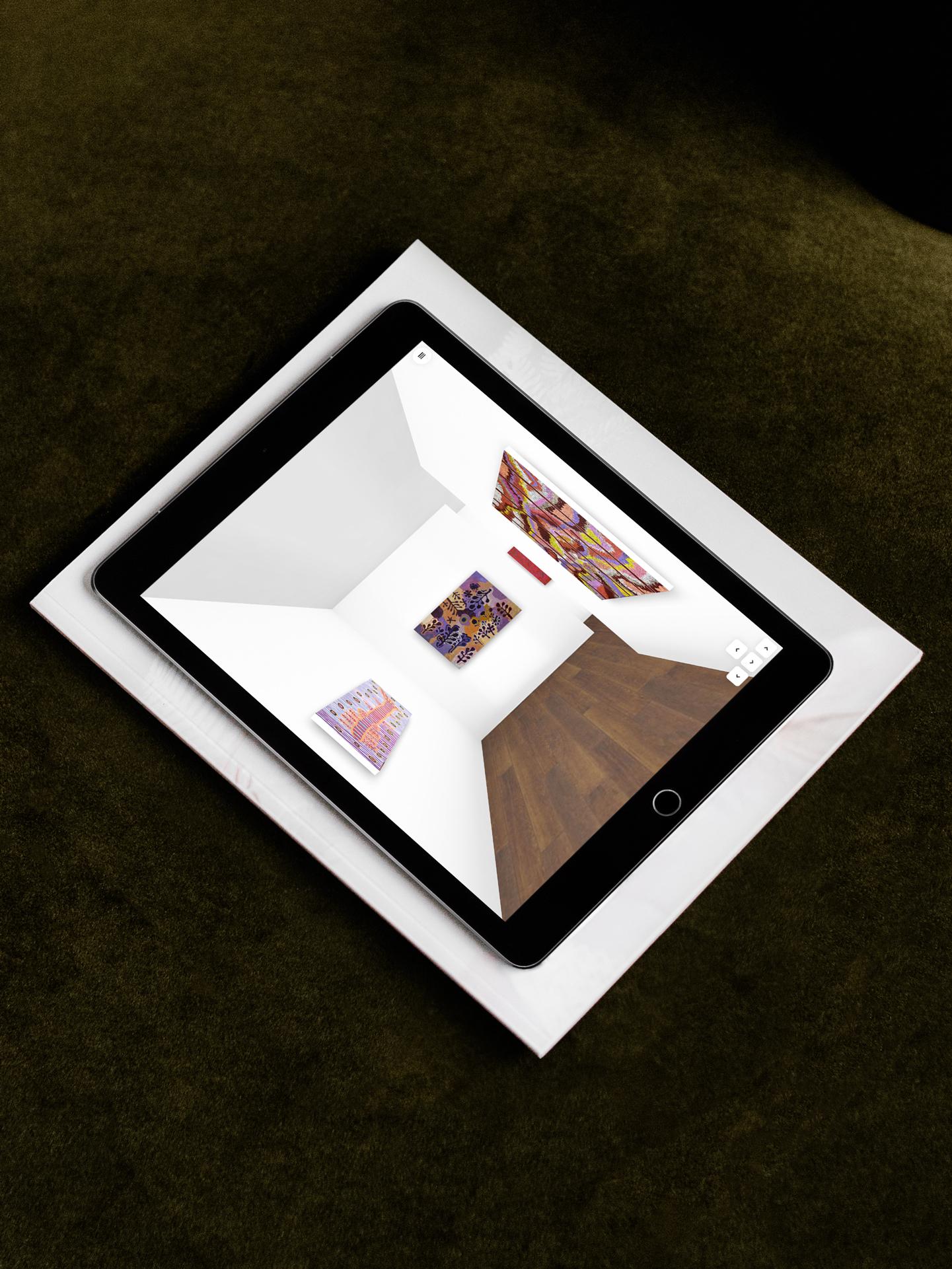 virtual gallery tablet mockup