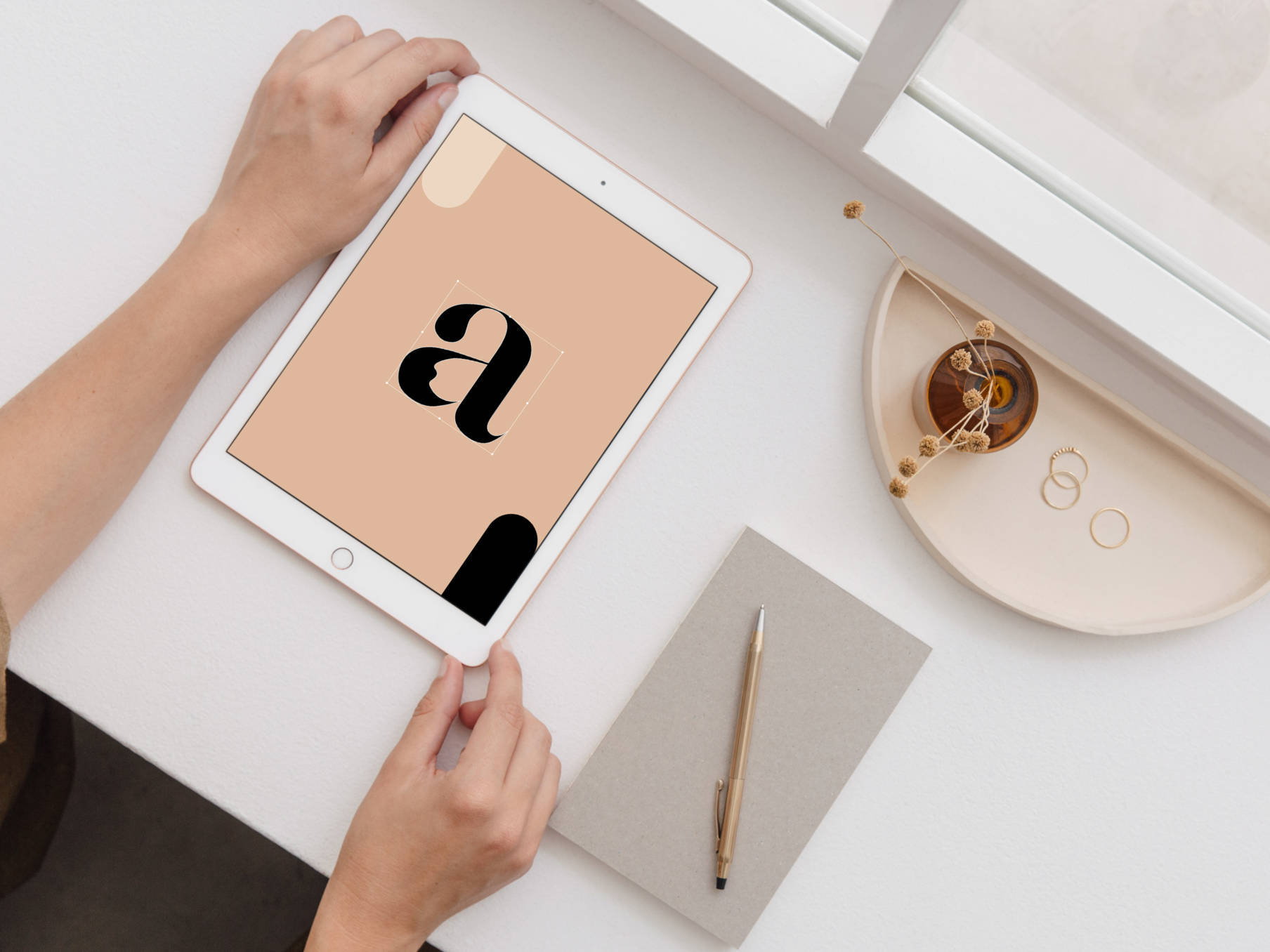 mockup tablet typography