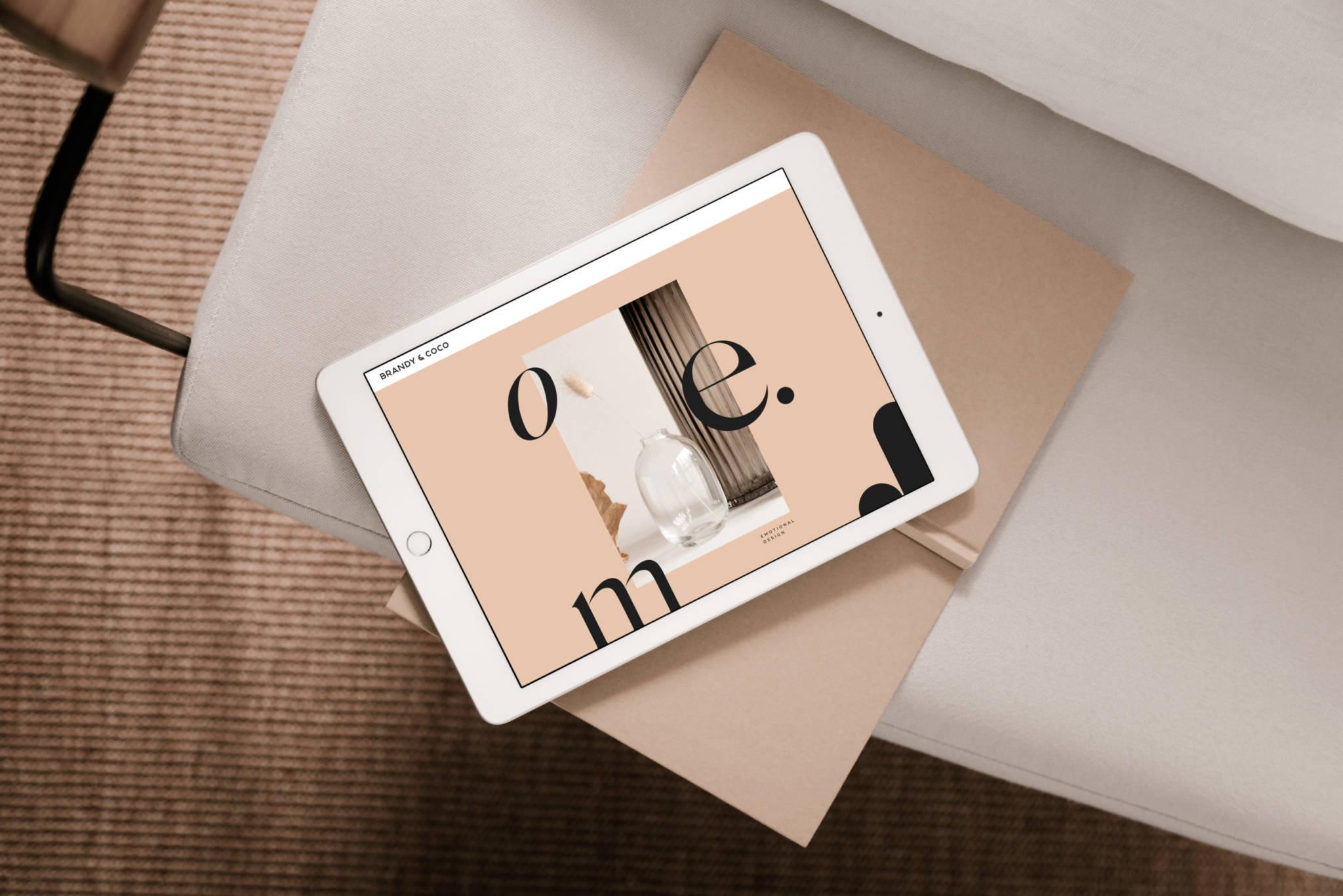 tablet mockup website
